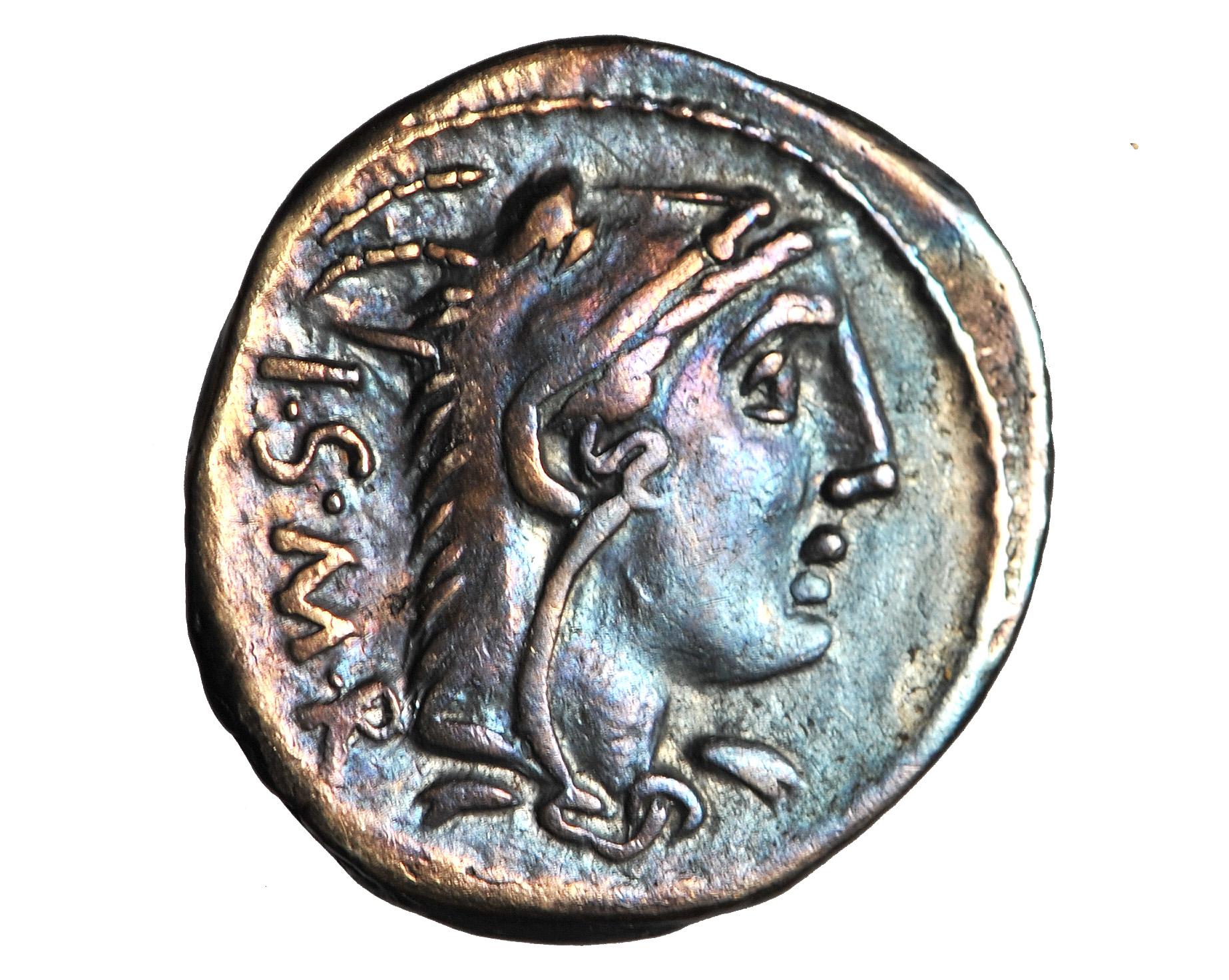 REPUBLIKA, Thorius Balbus, denar, 105 BC, B. ŁADNY
