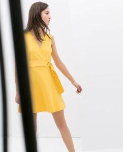 ZARA 36 S żółta sukienka mini pasek