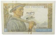 23.Francja, 10 Franków 26.11.1942, P.99.e, St.3+