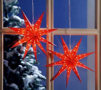 2 Swiecace Gwiazdy Dekoracja Do Okna Na Swieta 2873734719 Oficjalne Archiwum Allegro