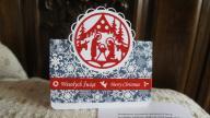 Kartka świąteczna ręcznnie wykonana