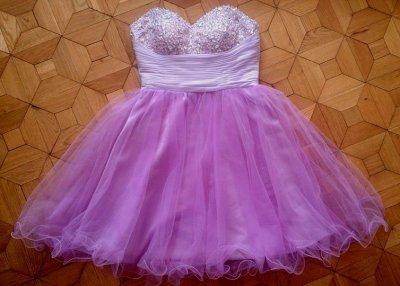 b63ad4b8d3 Sukienka Tiulowa Princeska Piękna Rozkloszowana S - 6524275380 ...