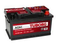 AKUMULATOR TUBORG STARTSTOP AGM 80AH 800A P+