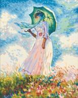 Malowanie po numerach - Kobieta z parasolem