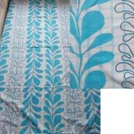 Poszwa bawełniana,błękitne wzory