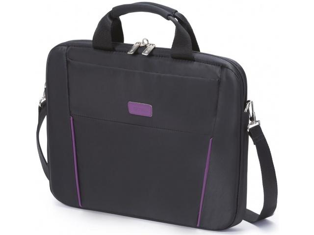 Dicota Slim Case Base 14 - 15.6 black purple czarn