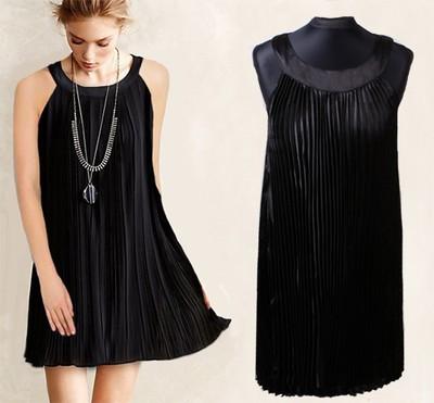 7947396ea1 109  Sukienka plisowana mała czarna SALE S M L - 6620381427 ...