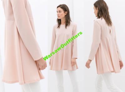 ZARA różowa nude rozkloszowana sukienka babydoll M