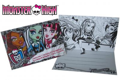 Zaproszenia Zaproszenie Monster High Koperta 3302828391