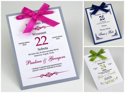 Kartka Z Kalendarza Zaproszenia ślubne Alma Art 5969410908