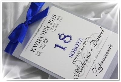 Zaproszenia ślubne Kalendarz Kartka Z Kalendarza 6748286742