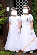 Sukienka komunijna 134-140 mega dodatków 47 zdjęć
