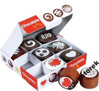 Drewniane czekoladki ZESTAW zabawa w sklep BIGJIGS