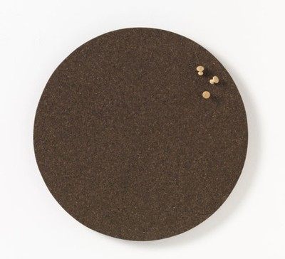 KORKOWA TABLICA okrągła brązowa 45 cm NAGA