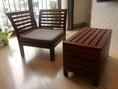 Ikea Applaro Meble Ogrodowe ława Fotel 6795901475