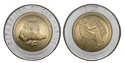1490. San  Marino, 500 lirów 1986, st.1/1-