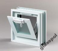 Okno wentylacyjne Went 1x1 luksfery pustaki szklan