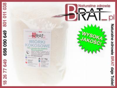 Wiórki kokosowe 1kg 100% NATURALNE od BRAT_PL