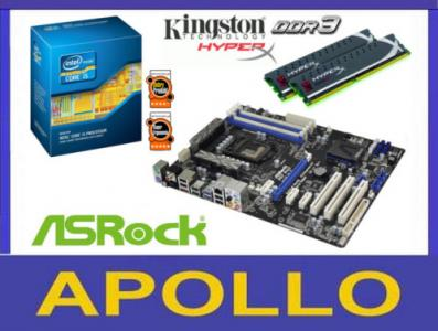 INTEL i5-3570 4x3.4GHz + ASROCK P67 PRO3 +8GB DDR3