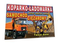 BANER GOTOWE WZORY 2x1m koparko ładowarka wywrotka