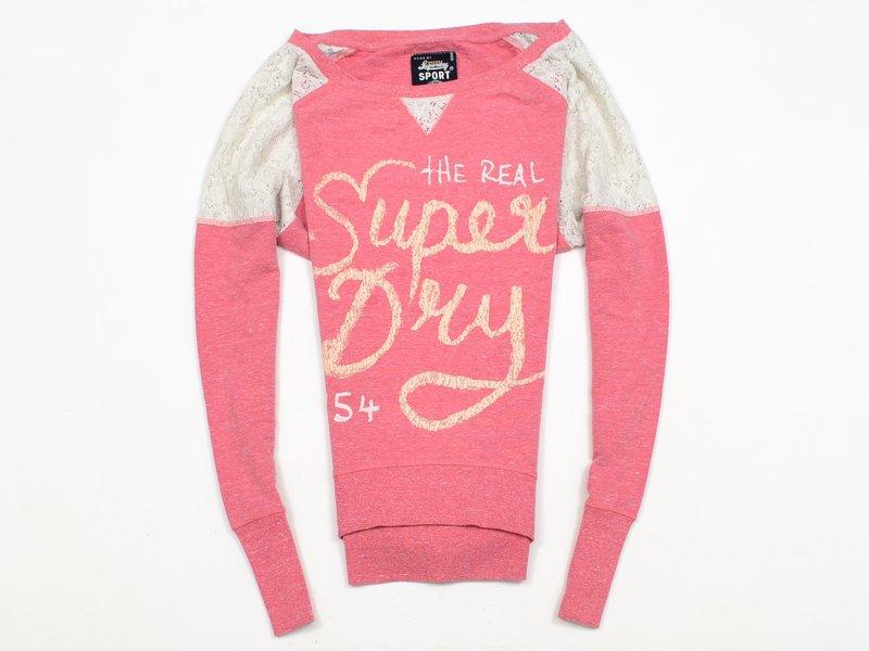 Bluza damska różowa Superdry krótka