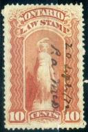 C. Ontario - Law Stamp - 10 c.