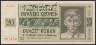 Czechy i Morawy - 20 koron - 1944 - stan UNC -