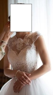 Suknia ślubna Biała Edith Rozmiar S 36 160 Cm 6810086840