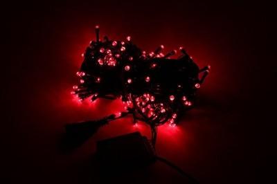 Zewnętrzne Lampki Choinkowe 200 Led Czerwone 18m