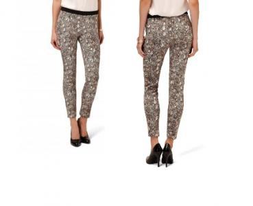 Nowe RESERVED spodnie cygaretki, print, wzór, S36