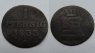 NIEMCY 1 PFENNIG 1833