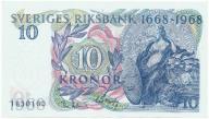 3957. Szwecja 10 kronor 1968 st.1