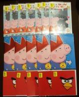 KARTKI URODZINOWE ŚWINKA PEPPA ANGRY BIRDS 17 SZT