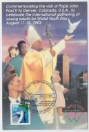 Jan Paweł II - karta okol. USA - 1993 rok