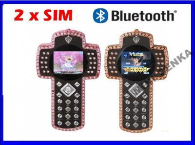 Telefon 2x SIM KRZYŻ z cyrkoniami model C97 T34