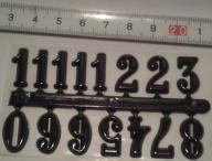 Czarne cyfry do tarczy zegara 16mm - arabskie