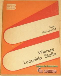Irena Maciejewska Wiersze Leopolda Staffa
