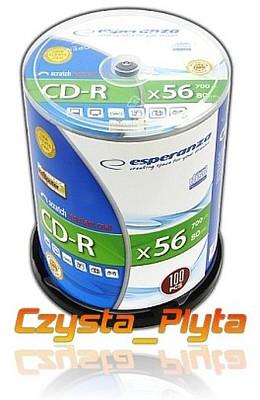 Esperanza CD-R Cake 50 SCRATCH RESISTANT + marker
