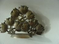 POSREBRZANY SERWETNIK HEFRA PLATER / WZÓR tulipany
