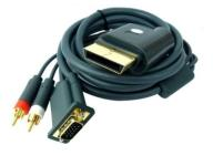KABEL GOLD DO XBOX 360 VGA HD AV KONEKTOR CINCH