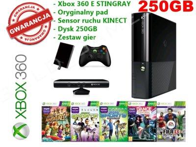 Xbox360 E Stingray Slim 250gb Kinect Gry Gwarancja 6622004385 Oficjalne Archiwum Allegro