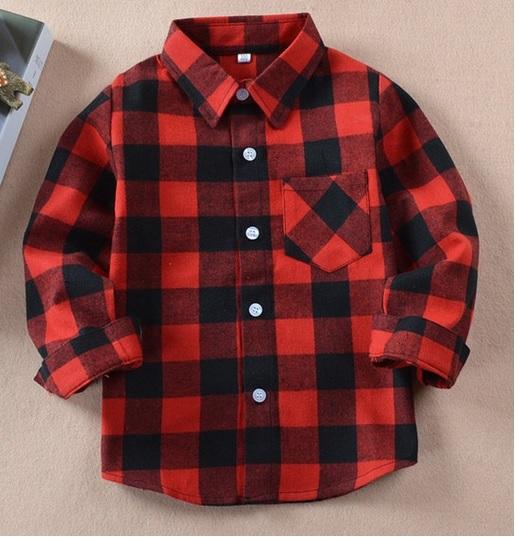 Flanelowa koszula w kratę dla dziewczynki, 110 kup online