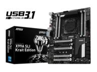 MSI X99A SLI Krait Edition, X99, QuadDDR4-2133, SA