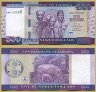 -- LIBERIA 500 DOLLARS 2016 AA Pnew UNC