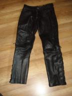Spodnie motocyklowe skórzane sznurowane pas88/S515