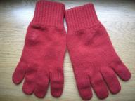 Polo Ralph Lauren czerwone rękawiczki wełniane M/L