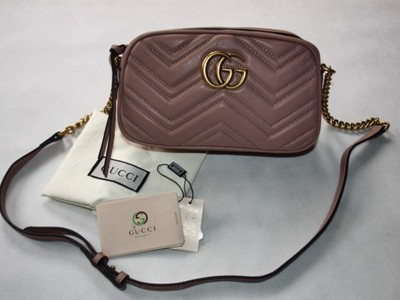 0f0e063d3244d Torebka Gucci Mała Skóra 100% Różowa - 6828292280 - oficjalne ...