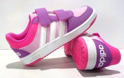 adidas buty dziewczęce HOOPS fioletowe F99264 35
