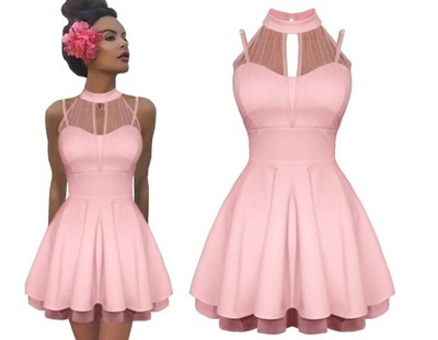 Rozkloszowana Sukienka Tiul Pushup Wesele Hit M601 6816962212