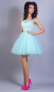 38252c4026 34(XS) miętowy sukienka mini krótka PW-1959 - 6161206449 - oficjalne ...